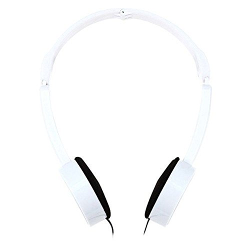 heaven2017 Retractable Foldable Over-ear Headset with Mic Stereo Bass Headphone for Kids (White)