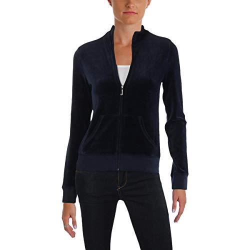 Juicy Couture Logo Velour - Juicy Couture Women's Fairfax Velour Jacket Regal Petite/X-Small