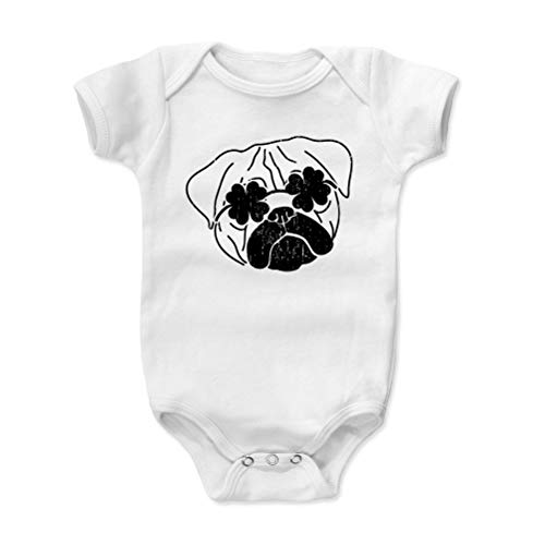 Bald Eagle Shirts St. Patrick's Day Dog Baby Clothes, Onesie, Creeper, Bodysuit - Lucky Pug (White, 18-24 Months)]()