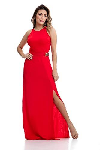 83528fc14 Vestido Clara Arruda Longo Fivela 50300 - M - Vermelho