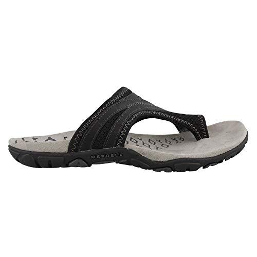 (Merrell Women's, Sandspur Delta Flip Thong Sandals Black 6 M )