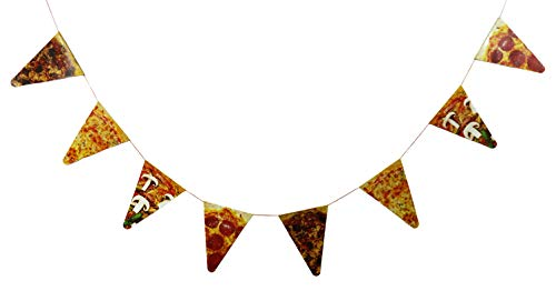 1 ~ Pizza Photo Pennant Banner ~ 7 feet long with 7 inch pennants ~ New
