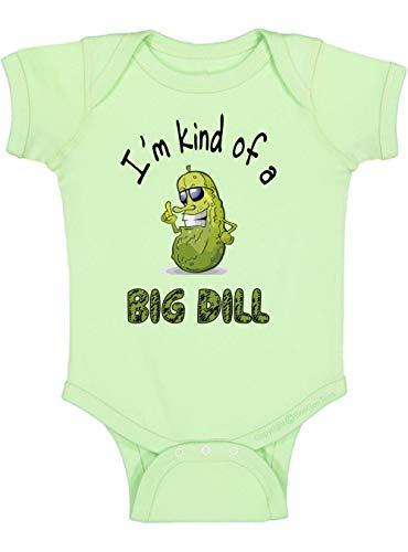 BeeGeeTees I'm Kind of A Big Dill Funny Baby One-Piece Anchorman Infant Romper Ron Burgundy (12 Months, Mint Green)