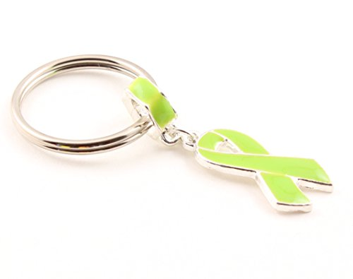 Lime Green Awareness Dangle Charm Key Chain