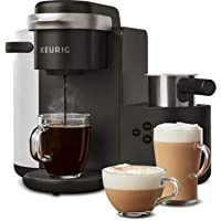 Keurig K-Cafe Coffee Maker, Single Serve K-Cup Pod Coffee, Latte and Cappuccino Maker, Comes with Dishwasher Safe Milk Frother, Coffee Shot Capability, Compatible With all K-Cup Pods