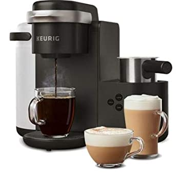 Keurig K-Cafe Single Serve K-Cup Pod Coffee, Latte and Cappuccino Maker, Comes with Dishwasher Safe Milk Frother, Shot Capability, Compatible, Charcoal