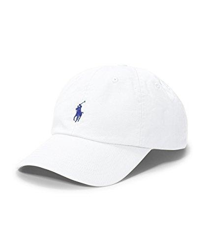 Polo Ralph Lauren Chino Baseball Cap, White, One - Ralph Polo Lauren White