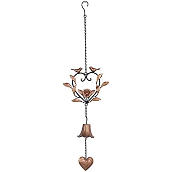 Amazoncom Kleanner Metal Bird Wind Chime Portable Floral Heart