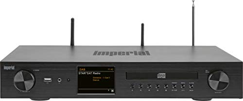 Imperial DABMAN i550 CD HiFi-versterker internetradio (DAB+/DAB/FM/WLAN/LAN, Bluetooth, streaming diensten, cd-speler…
