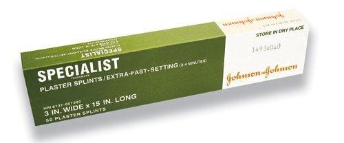 Amazon com: Specialist Plaster Splints X-Fast Setting 5 x30