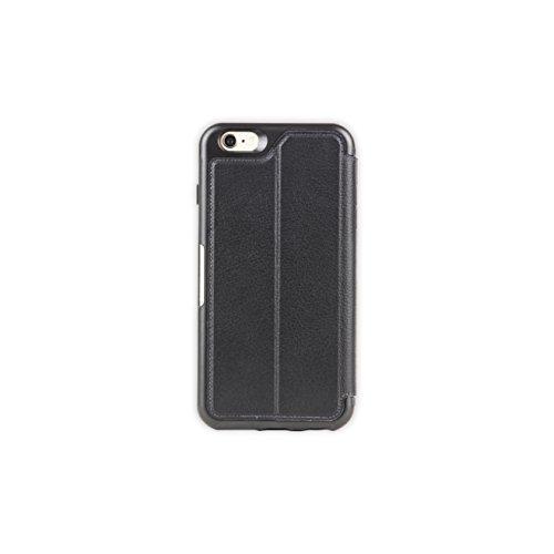 OtterBox STRADA SERIES iPhone 6 Plus/6S Plus Case- Retail Packaging - NEW MINIMALISM (BLACK/DARK GREY/BLACK LTHR FOLIO) by OtterBox (Image #1)