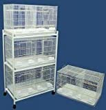 Brand New Lot of Four Bird Breeding Cage 30x18x18/Stand Divider-WHITE