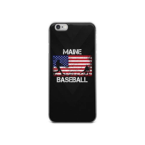 iPhone 6/6s Pure Clear Case Cases Cover Maine Baseball Team American Flag Independence Day Patriotic Animal 4th of July USA