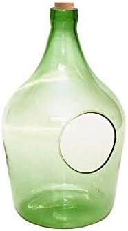 Esschert Design Windlicht für Teelichter aus recyceltem Glas, 5000 ml, 19,8 x 19,3 x 33 cm, Grünglas, Kerzenständer, Tischlicht, Tischkerze, Kerzenhal