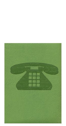 Pierre Belvedere Script Pocket Address Book, Padded Cover, Wasabi (978630) - Belvedere Dash