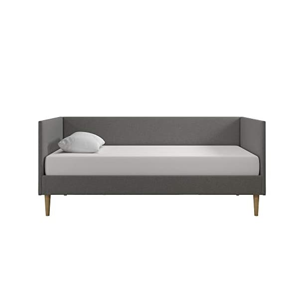DHP Franklin Mid Century Upholstered Daybed, Sofa Bed, Twin Size Frame, Blue Linen 2