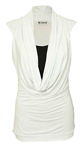 Miss Moody Fashion–Hemden–Basic–Damen schwarz weiß 38