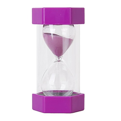 All Life Long Security Safety Fashion Hourglass Sand Clock Timer for Children Brush Teeth Kitchen Countdown (45 Minutes, Purple)