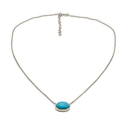 9a9659ac11758 Amazon.com: TousiAttar Turquoise Necklace - Solid 14k or 18k White ...