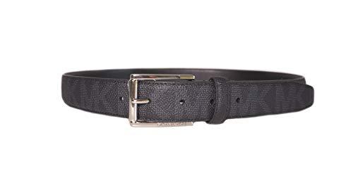Michael Kors Mens MK Logo Black Belt (34) (Michael Kors Mens Belt)