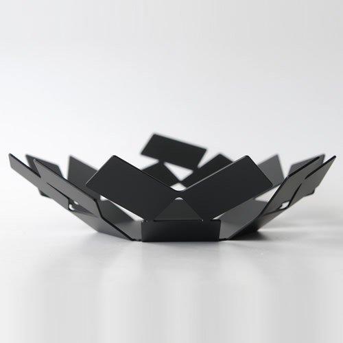 Alessi MT01 B, Cesta, Acero inoxidable, Negro, 24.5 x 23.2 x 6.2 cm: Mario Trimarchi: Amazon.es: Hogar