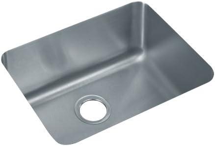 Elkay ELU211510 Gourmet Lustertone Undermount Sink, Stainless Steel