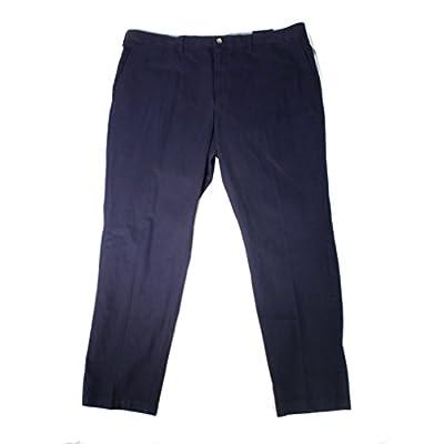 New Club Room Navy Mens 48x34 Straight Flat-Front Khakis Pants Blue 48 free shipping