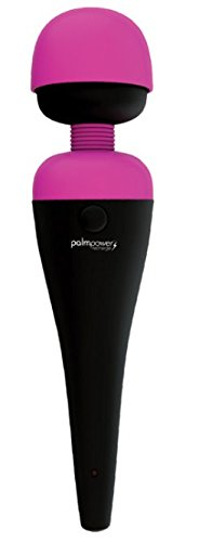 New Rechargeable PalmPower Premium Body Wand Massager+ Includes a Free Oil Of Love 3.4oz Massage Oil by BMS