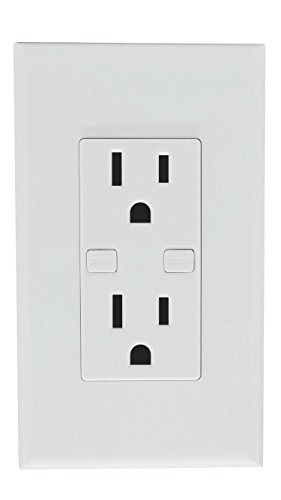 Smart Wi-Fi Wall Outlet, Works With Alexa Google Home IFTTT, iOS Android Smartphone Wireless, No Hub Required, Timer Function, Independent Socket Control, 15A by Smart Home Products (Image #1)