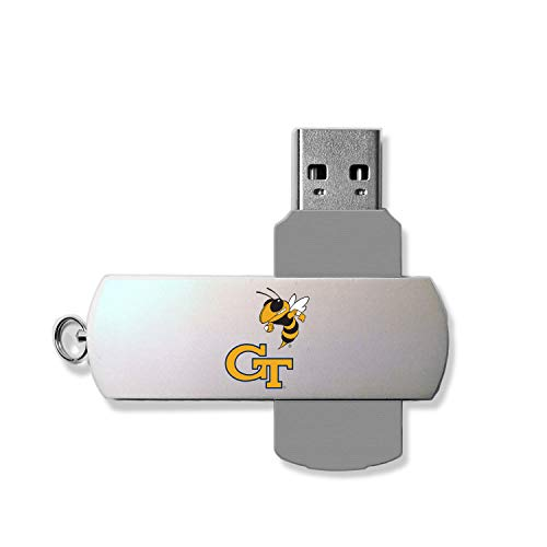 Keyscaper KUSB16-00GT-INSGN1 Georgia Tech Yellow Jackets Metal Twist USB Drive with GT Insignia Design