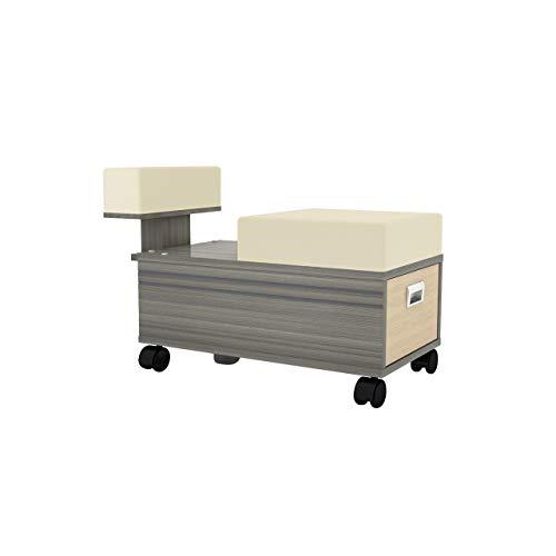 ALERA Pedicure Cart with Footrest Pedi Trolley Nail Salon Furniture & Equipment