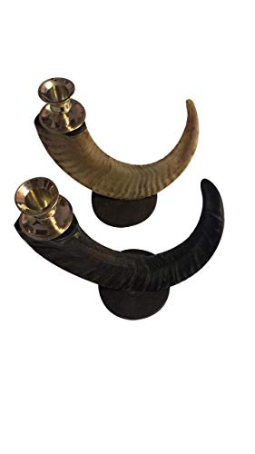(US Exporter Candle Holder Horn for Home Decor - Horn Candle Stand Sticks Pack of 2)