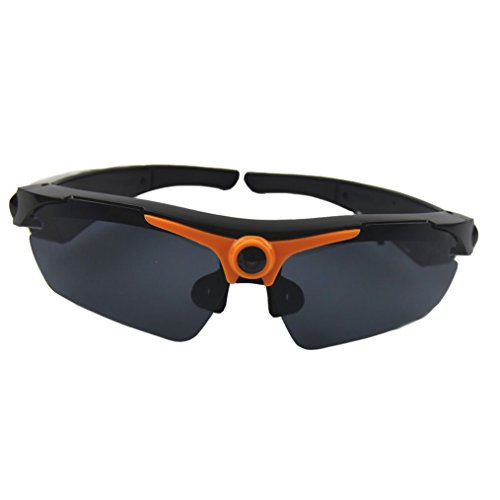 JOYCAM Sunglasses with Camera Full HD 1080P Video Recording Polarized UV400 DVR Eyeglass Camcorder for Outdoor - Sunglass Orange Hut