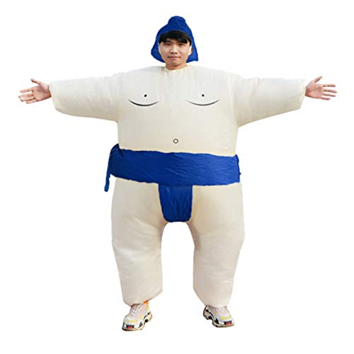 (HHARTS Sumo Inflatable Costume Blow up Wrestling Wrestler Costume for Halloween Cosplay Party Christmas)