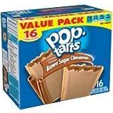 Kellogg's Pop-Tarts Value Pack, Brown Sugar Cinnamon Toaster Pastries, 1.76 oz, 16 ct