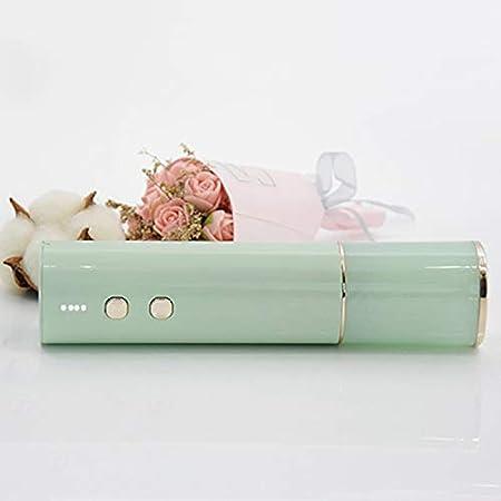 Huante - Abridor de botellas de vino, eléctrico, sacacorchos alimentados por USB automático, con cortador de hojas de estaño (rosa)