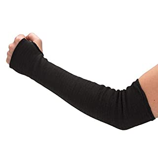 Magid Cut Resistant Protective Arm Sleeves | 100% Kevlar Knit 22″ Double Layered Cut Resistant Sleeve with Thumb Slot – Cut Level 4, Fire Resistant, 22″ Length, Black (1 Sleeve)