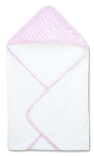 Trend Lab Pink Gingham Seersucker Deluxe Hooded Towel ()