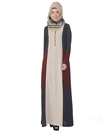 Modest Forever Multicolour Flared Abaya Burkha for Women
