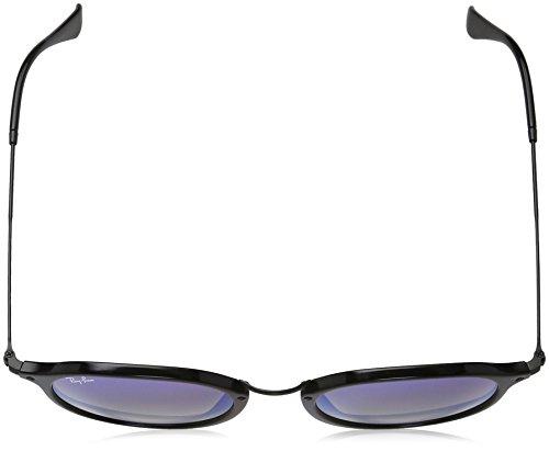 Ray-Ban  RB2447 901/4O Non-Polarized Sunglasses, Black/Blue Gradient Flash, 52 mm