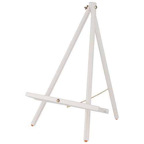 Tabletop Painting Easel Thrifty Table Easel Compact Easy Carry Art Easel Rubber Foot Pads Hold & Display Canvas, Panels, Signs, Photographs, Chalk Boards, White Boards - White - Single Easel ()