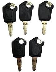 5PCS Ignition Keys 5P8500 5P-8500 for Caterpillar CAT Heavy Equipment Loaders Excavators Dozers 0964753 0966198 8V4404 9G2777 980K 980H 416C 248B