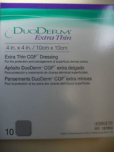 (DuoDerm Hydrocolloid Dressing 187955 4 X 4 Inch Box of 10, Sand)