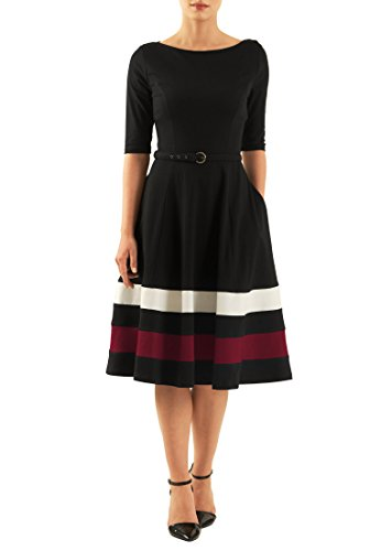 Buy belted colorblock stripe dress - 9