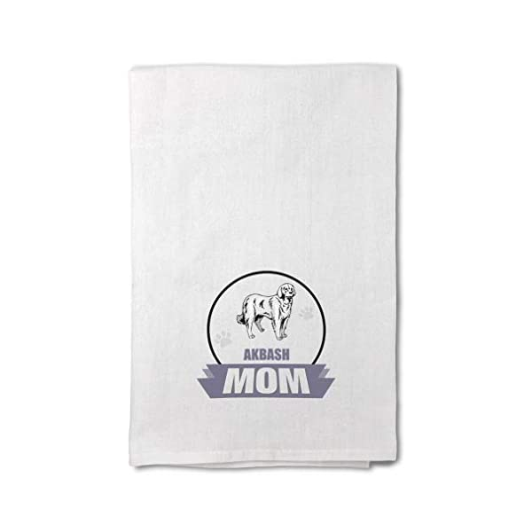 Style In Print Custom Decor Flour Kitchen Towels Mom Akbash Dog Pets Dogs Cleaning Supplies Dish Towels Design Only 1