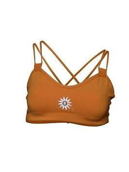 Sujetador deportivo, running, diseño de la princesa Margarita, color naranja: Amazon.es: Deportes y aire libre