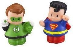 Little People DC Super Friends Green Lantern & Superman Figure ...