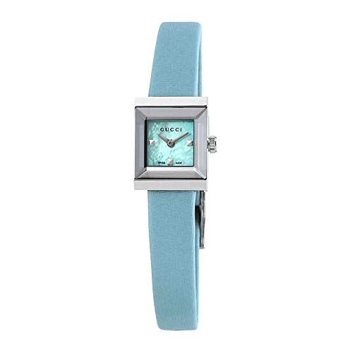 Gucci G-Frame Pastel Blue Mother of Pearl Dial Ladies Satin Watch YA128531