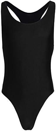 TiaoBug Mens One Piece Freestyle Leotard Bodysuit Slim Cut Swimsuit Thong Singlet