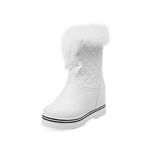 allhqfashion-womens-soft-material-round-closed-toe-solid-low-top-high-heels-boots-with-bows-white-40